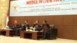 Medai Workshop BPK RI Perwakilan Jawa Barat 23 Agustus 2016