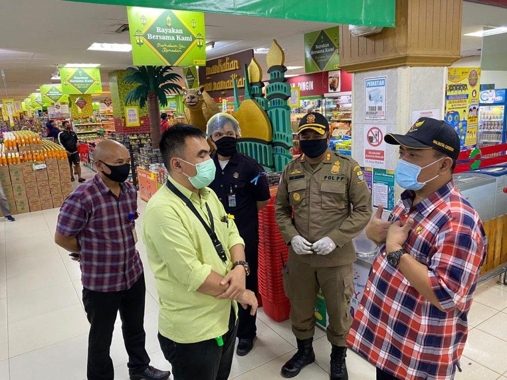 Monitoring ke Pusat Perbelanjaan, Wali Kota Cirebon Berikan Pemahanan Soal PSBB