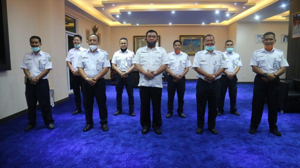 Pemda Kota Cirebon & PT KAI Bahas Protokol Kesehatan AKB