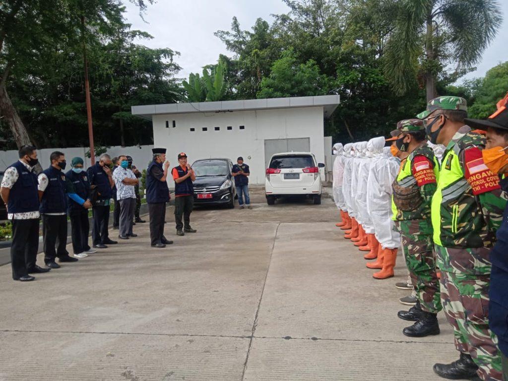 Penyemprotan Disinfektan Sasar Gang dan Jalan Kecil di Kota Cirebon