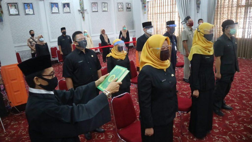 Ratusan Pejabat Fungsional Pemda Kota Cirebon Dilantik Secara Online