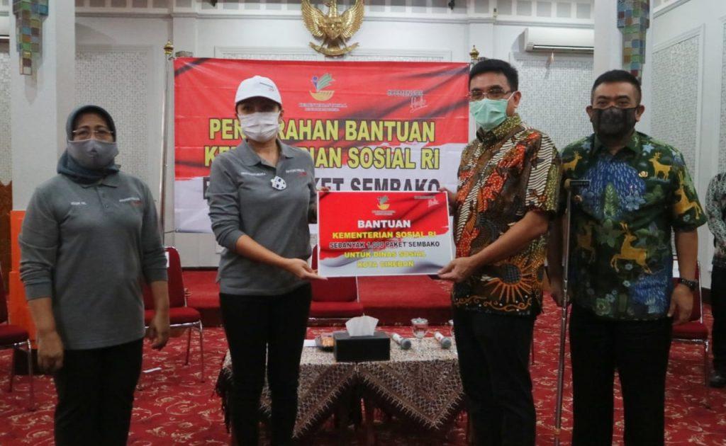 Kota Cirebon Terima Bantuan Sembako dari Dharma Wanita Kemensos RI