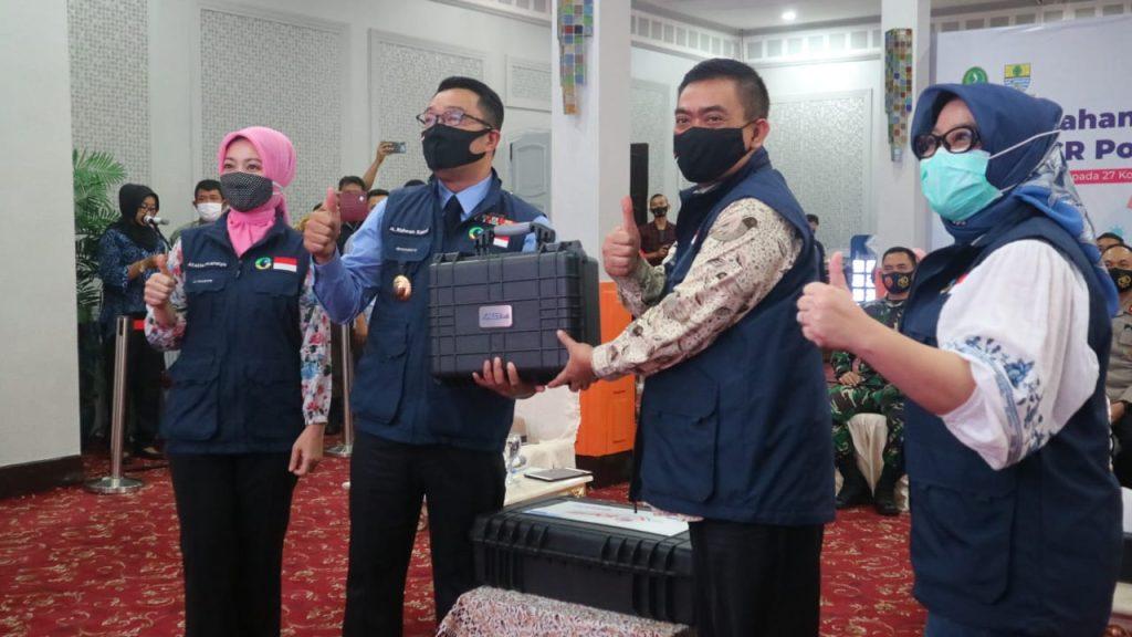 Dapat Bantuan PCR Portable, Pemda Kota Cirebon Percepat Test Swab Hingga Pelosok